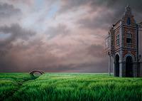 Roland-H.-Heyder-Landscapes-Spring-Buildings-Houses-Modern-Age-Photo-Realism-Hyperrealism
