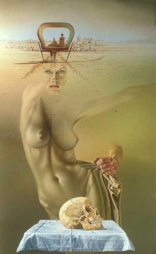 Roland H. Heyder, Als Dali Schubert begegnete..., Erotic motifs: Female nudes, Fantasy, Hyperrealism
