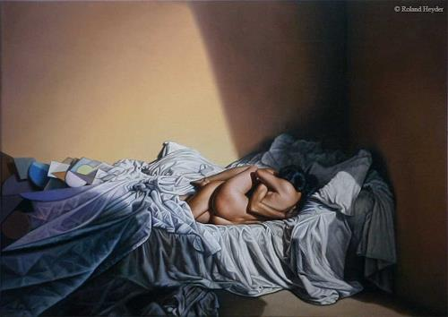 Roland H. Heyder, Zweisamkeit, Miscellaneous Erotic motifs, Emotions: Love, Hyperrealism, Expressionism