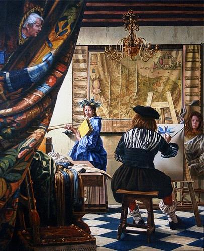 Roland H. Heyder, Vermeer's Malkunst, Interiors: Rooms, History, Romanticism