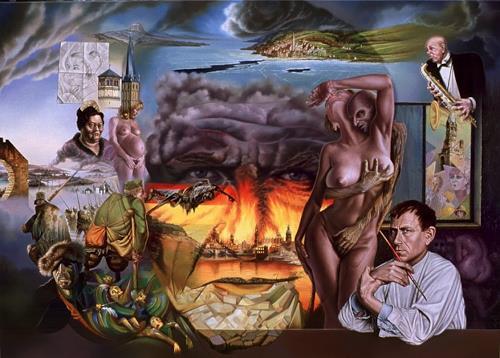 Roland H. Heyder, Otto Dix, Erotic motifs: Female nudes, Emotions: Fear, Hyperrealism