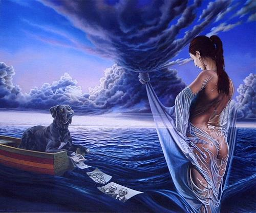 Roland H. Heyder, Der Knoten, Nature: Water, Landscapes: Sea/Ocean, Hyperrealism