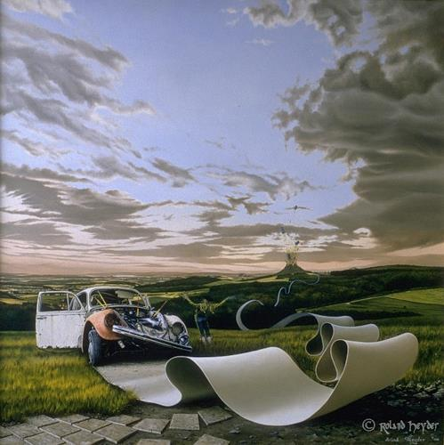 Roland H. Heyder, Der Abschied, Landscapes: Spring, Romantic motifs: Sunset, Hyperrealism, Expressionism