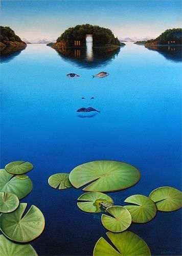 Roland H. Heyder, Von den Inseln, welche ich suchte...II, Nature: Water, Animals: Water, Post-Surrealism