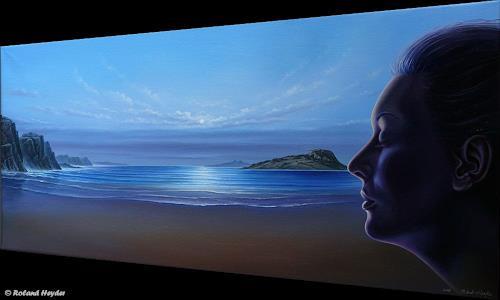 Roland H. Heyder, Fernweh, Landscapes: Sea/Ocean, People: Portraits, Realism