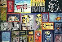 Ricardo-Ponce-Fantasy-Miscellaneous-Animals-Modern-Age-Primitive-Art-Naive-Art