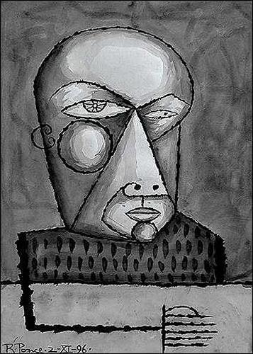 Ricardo Ponce, De la serie: Los iluminados, People: Portraits, People: Men, Abstract Expressionism