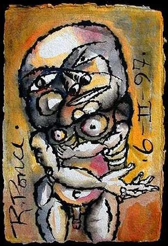 Ricardo Ponce, De la serie: Manicomio particular, People: Men, People: Portraits, Abstract Expressionism