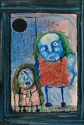Ricardo Ponce, Retrato doble o las dos lesbianas, Poetry, People: Families, Expressionism
