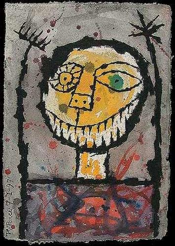 Ricardo Ponce, La sonrisa del loco, Parties/Celebrations, Humor, Abstract Expressionism