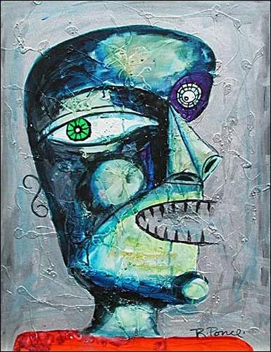 Ricardo Ponce, N/T, People: Portraits, Burlesque, Art Brut, Abstract Expressionism
