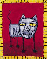 Ricardo-Ponce-Animals-Land-Miscellaneous-Animals-Modern-Age-Abstract-Art-Art-Brut
