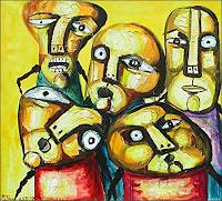 Ricardo-Ponce-People-Group-Miscellaneous-People-Modern-Age-Abstract-Art