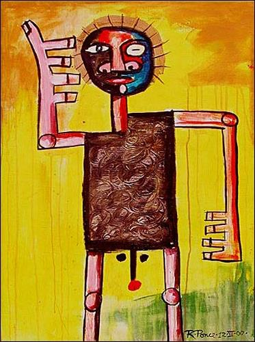 Ricardo Ponce, N/T, People: Men, Miscellaneous People, Art Brut, Abstract Expressionism
