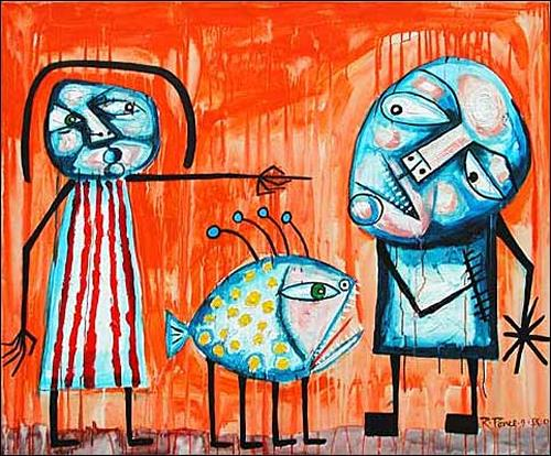Ricardo Ponce, N/T, Emotions: Aggression, Symbol, Expressionism, Abstract Expressionism