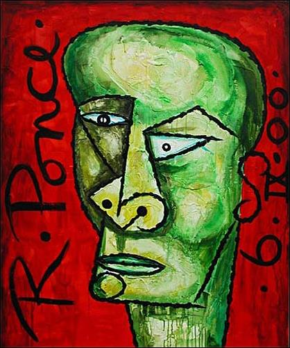 Ricardo Ponce, Cabeza, People: Portraits, People: Men, Cubism, Expressionism