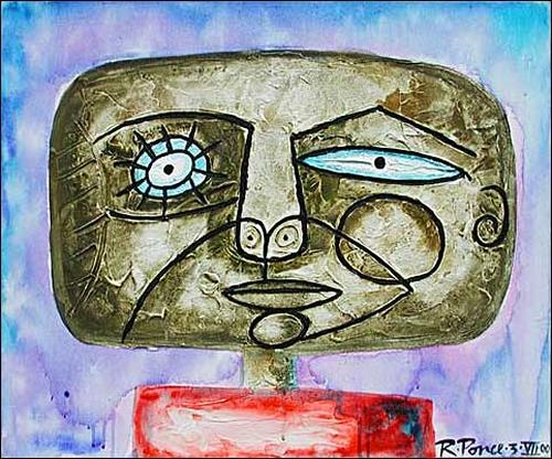 Ricardo Ponce, Cabeza, People: Portraits, People: Men, Expressionism