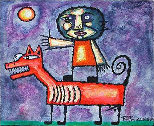 Ricardo Ponce, N/T, Poetry, Situations, Primitive Art/Naive Art, Expressionism