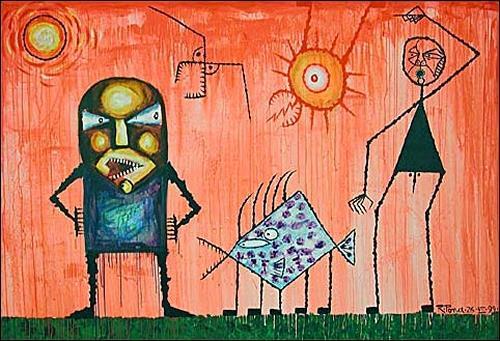 Ricardo Ponce, En El Dia Rosado, Situations, Mythology, Expressionism