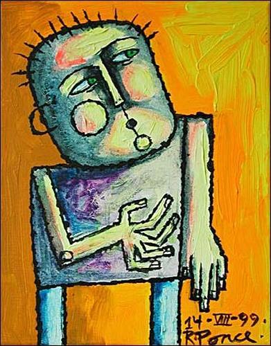Ricardo Ponce, N/T, People: Men, Expressionism