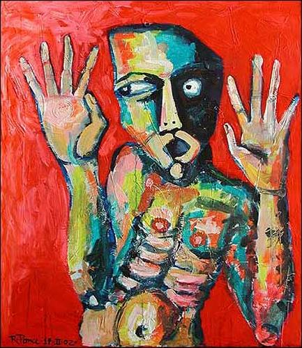 Ricardo Ponce, N/T, Emotions: Fear, People: Men, Abstract Expressionism