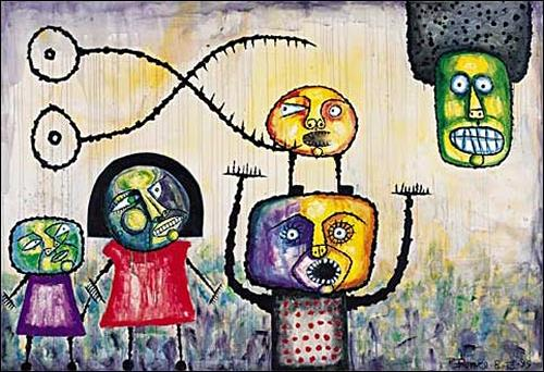 Ricardo Ponce, N/T, People: Families, Situations, Abstract Art, Expressionism