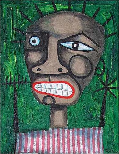Ricardo Ponce, N/T, Emotions: Aggression, People: Men, Abstract Expressionism