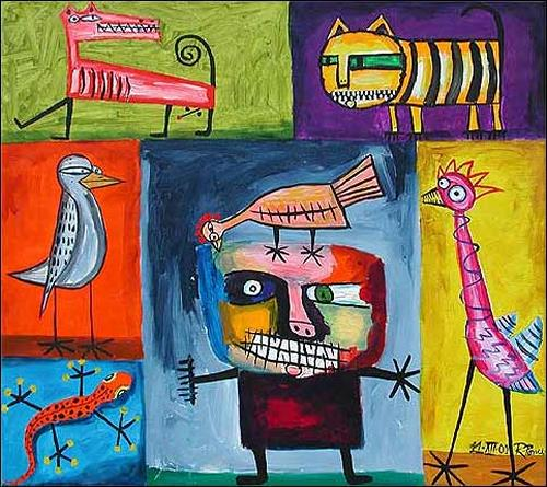 Ricardo Ponce, N/T, Miscellaneous Animals, Symbol, Art Brut, Expressionism