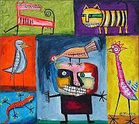 Ricardo-Ponce-Miscellaneous-Animals-Symbol-Modern-Age-Abstract-Art-Art-Brut