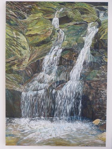 Theresia Züllig, 2 Wasserläufe treffen sich, Landscapes: Sea/Ocean, Nature: Water, Naturalism