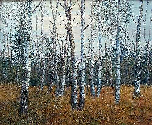 Theresia Züllig, Birkenwald, Nature: Wood, Nature: Wood, Naturalism, Naturalism