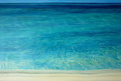 Theresia Züllig, am indischen Meer, Nature: Water, Landscapes: Sea/Ocean, Naturalism
