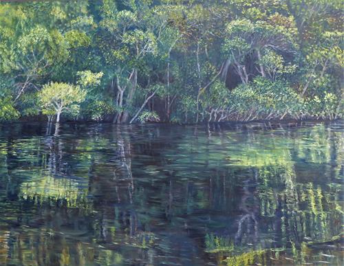 Theresia Züllig, Amazonaserlebnis, Nature: Water, Miscellaneous Landscapes, Naturalism