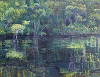 Theresia-Zuellig-Nature-Water-Miscellaneous-Landscapes-Modern-Age-Naturalism