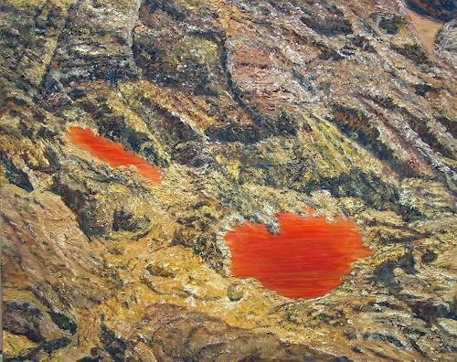 Theresia Züllig, Schwefelseeli, Nature: Rock, Landscapes: Mountains, Naturalism, Abstract Expressionism