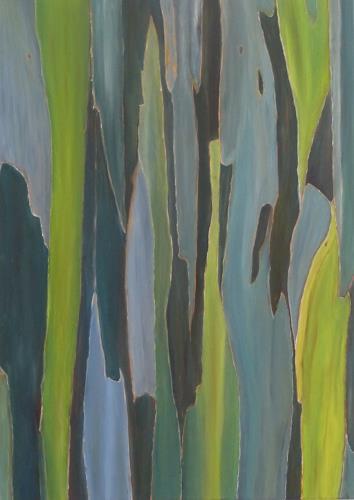 Theresia Züllig, blaue Rinde, Plants: Trees, Nature: Miscellaneous, Naturalism