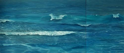 Theresia Züllig, Wellenspiel auf Korsika, Nature: Water, Landscapes: Sea/Ocean, Naturalism