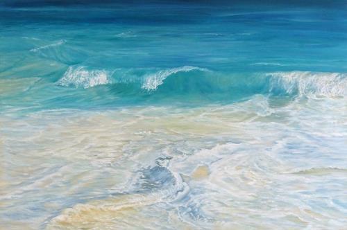 Theresia Züllig, schäumendes Meer, Nature: Water, Landscapes: Sea/Ocean, Naturalism
