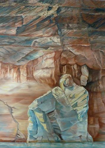 Theresia Züllig, Steinfiguren am Lake Powell, Nature: Rock, Landscapes: Sea/Ocean, Naturalism