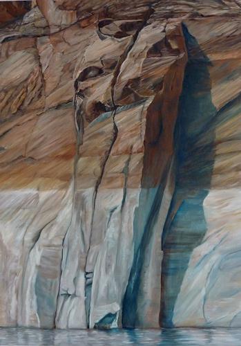 Theresia Züllig, lebendige Steinmauern am Lake Powell, Nature: Rock, Landscapes: Sea/Ocean, Naturalism