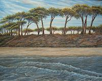 Theresia-Zuellig-Landscapes-Sea-Ocean-Plants-Trees-Modern-Age-Impressionism