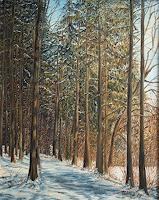 Theresia-Zuellig-Landscapes-Winter-Plants-Trees-Modern-Age-Impressionism
