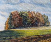 Theresia-Zuellig-Nature-Wood-Landscapes-Autumn-Modern-Age-Impressionism