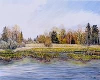 Theresia-Zuellig-Landscapes-Autumn-Nature-Water-Modern-Age-Impressionism