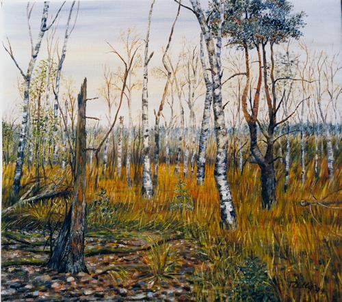 Theresia Züllig, wilde Natur, Landscapes: Autumn, Plants: Trees, Impressionism