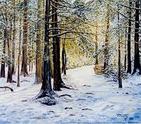 Theresia-Zuellig-Nature-Wood-Landscapes-Winter-Modern-Age-Impressionism