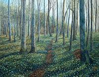 Theresia-Zuellig-Landscapes-Spring-Plants-Trees-Modern-Age-Impressionism