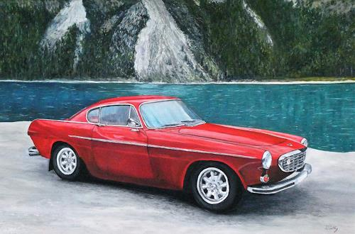 Theresia Züllig, Volvo1968 am Alpsee, Traffic: Car, Technology, Naturalism