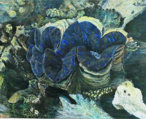 Theresia Züllig, Naturwunder beim Schnorcheln, Mihiri, Landscapes: Sea/Ocean, Nature: Water, Naturalism, Expressionism