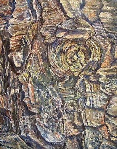 Theresia Züllig, Tannenrinde, Plants: Trees, Nature: Wood, Naturalism, Naturalism